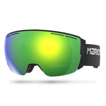 GOGLE MARKER 3D+ MAP BLACK - Yellow plasma mirror