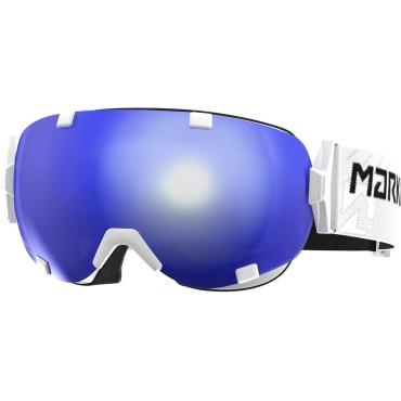 GOGLE MARKER PROJECTOR+ 2 x SZYBKA WHITE BLUE HD POLARIZED - PROMOCJA !!